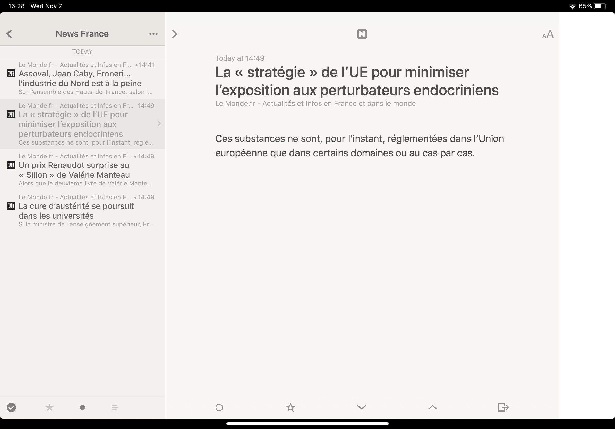 Reeder on iPad Pro 11 inch copy