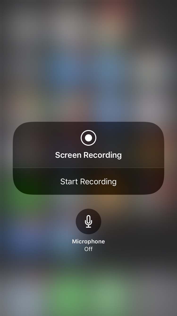 Screen Recording Microphone Off