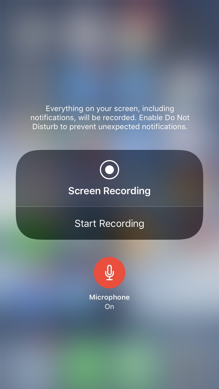 Screen Recording Microphone On