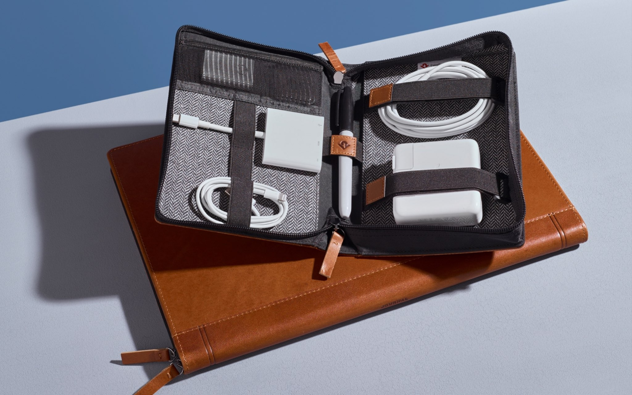 Travel organizer case for accessories