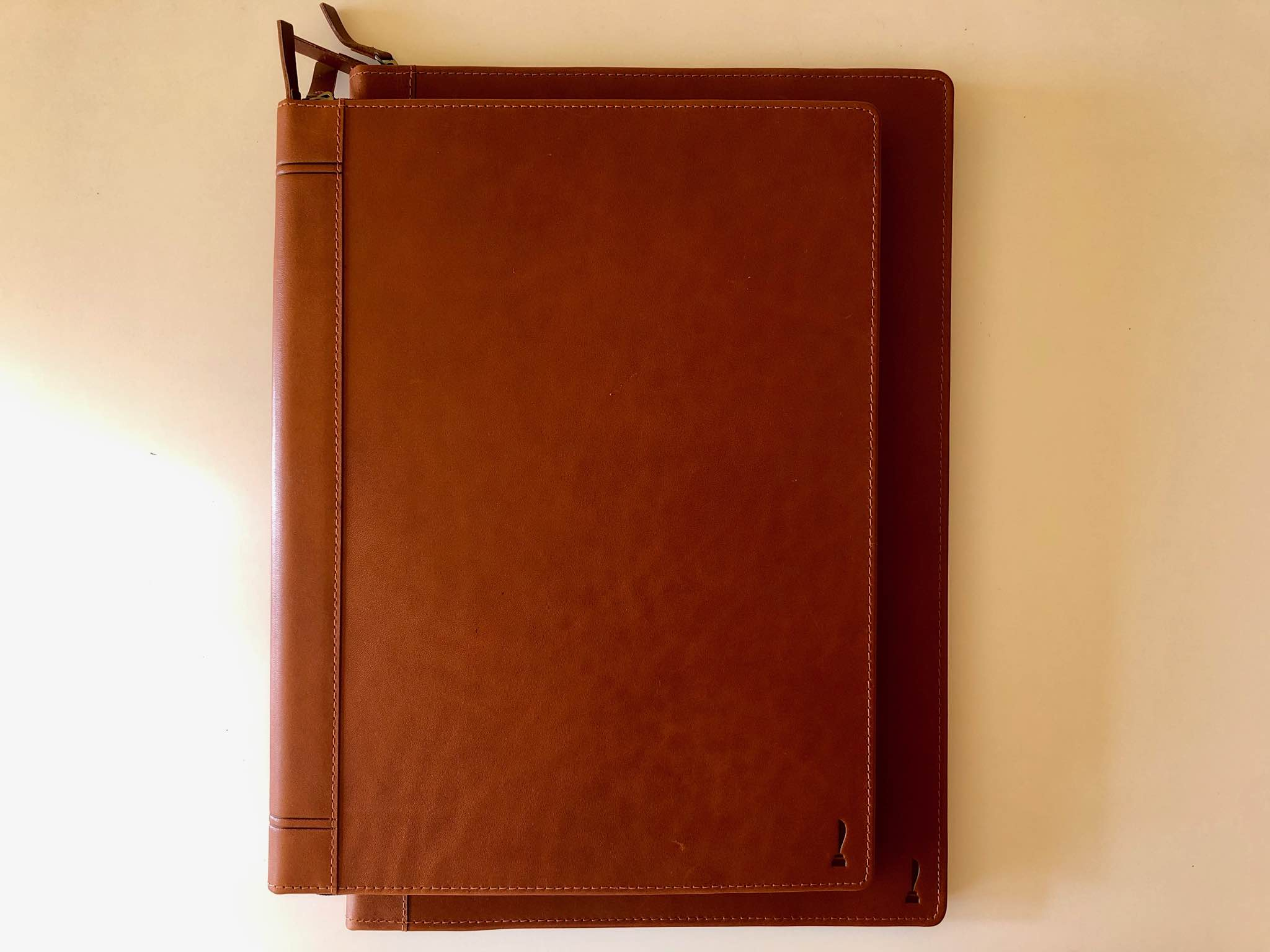 Notebook cases made from leather
