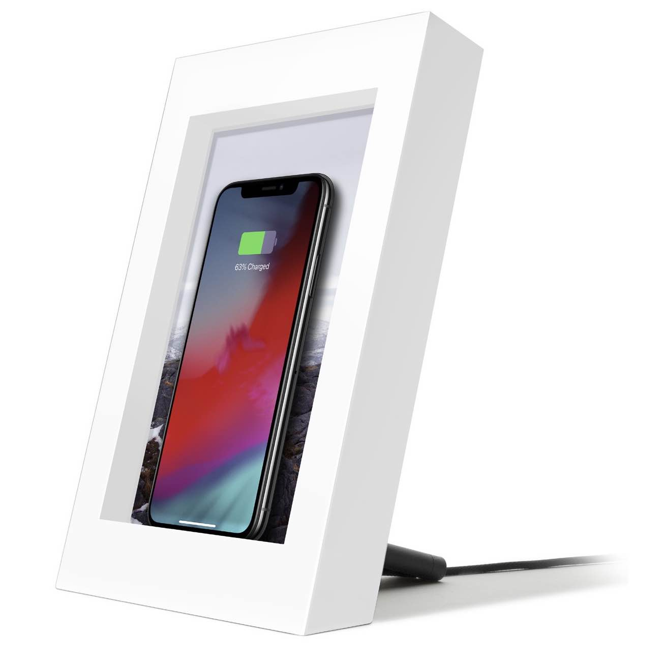 review twelve south powerpic a 5x7 picture frame that wirelessly charges your iphone. Black Bedroom Furniture Sets. Home Design Ideas
