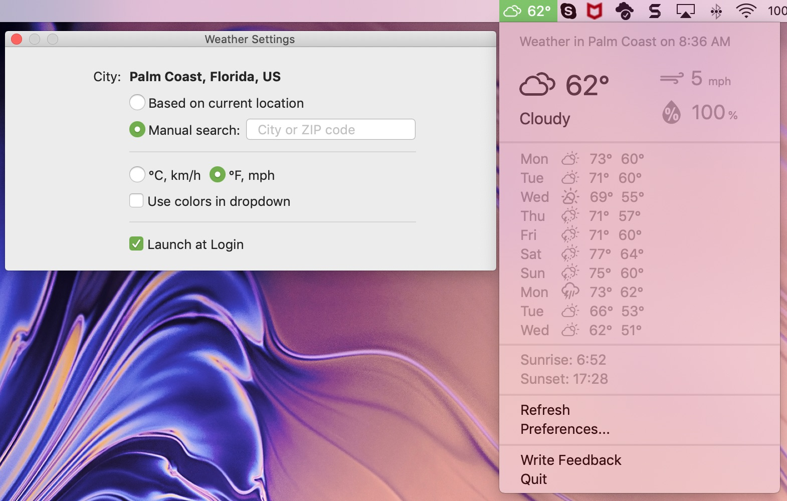 Weather Indicator for Mac