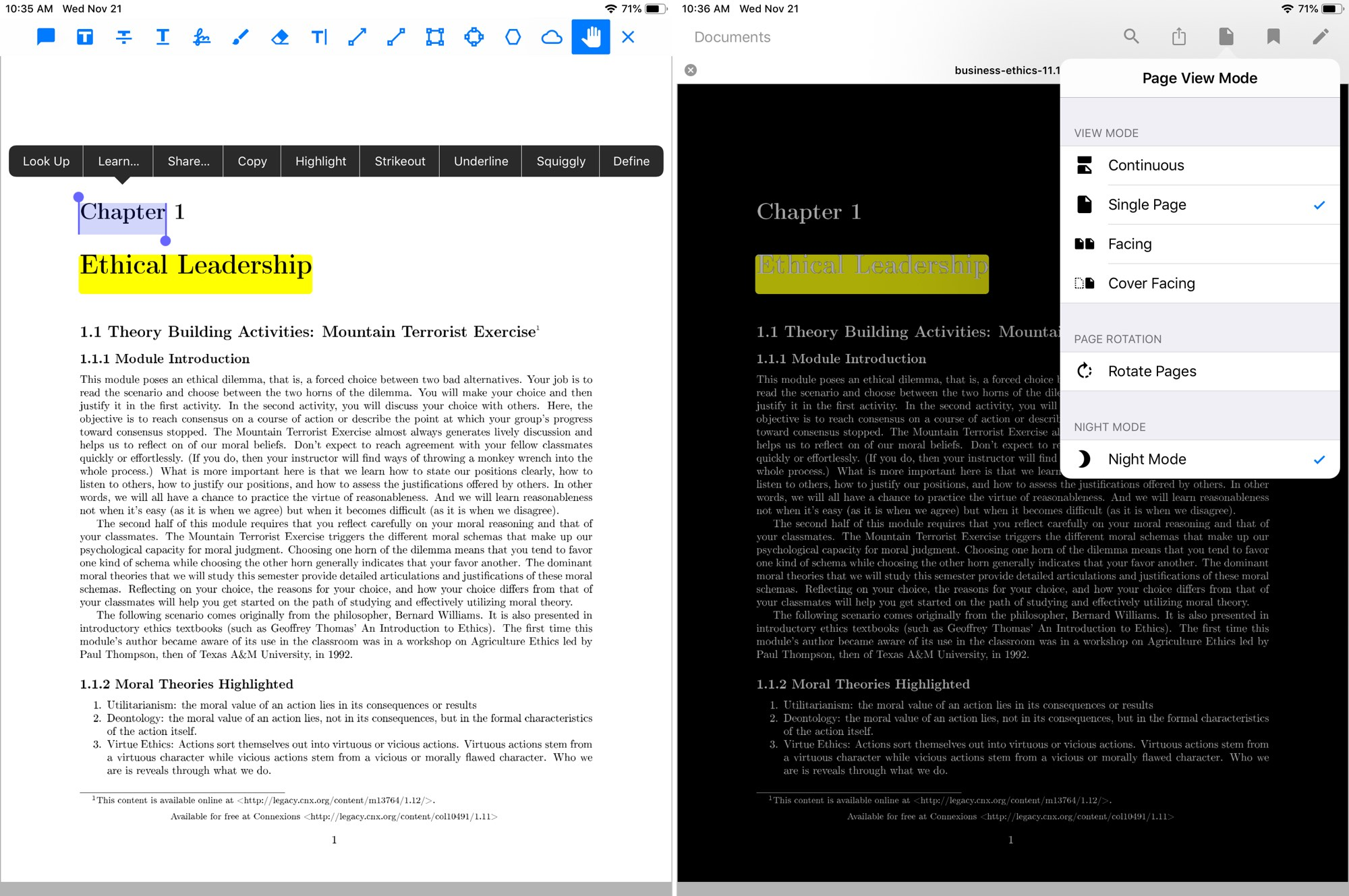 Xodo PDF Pro on iPad