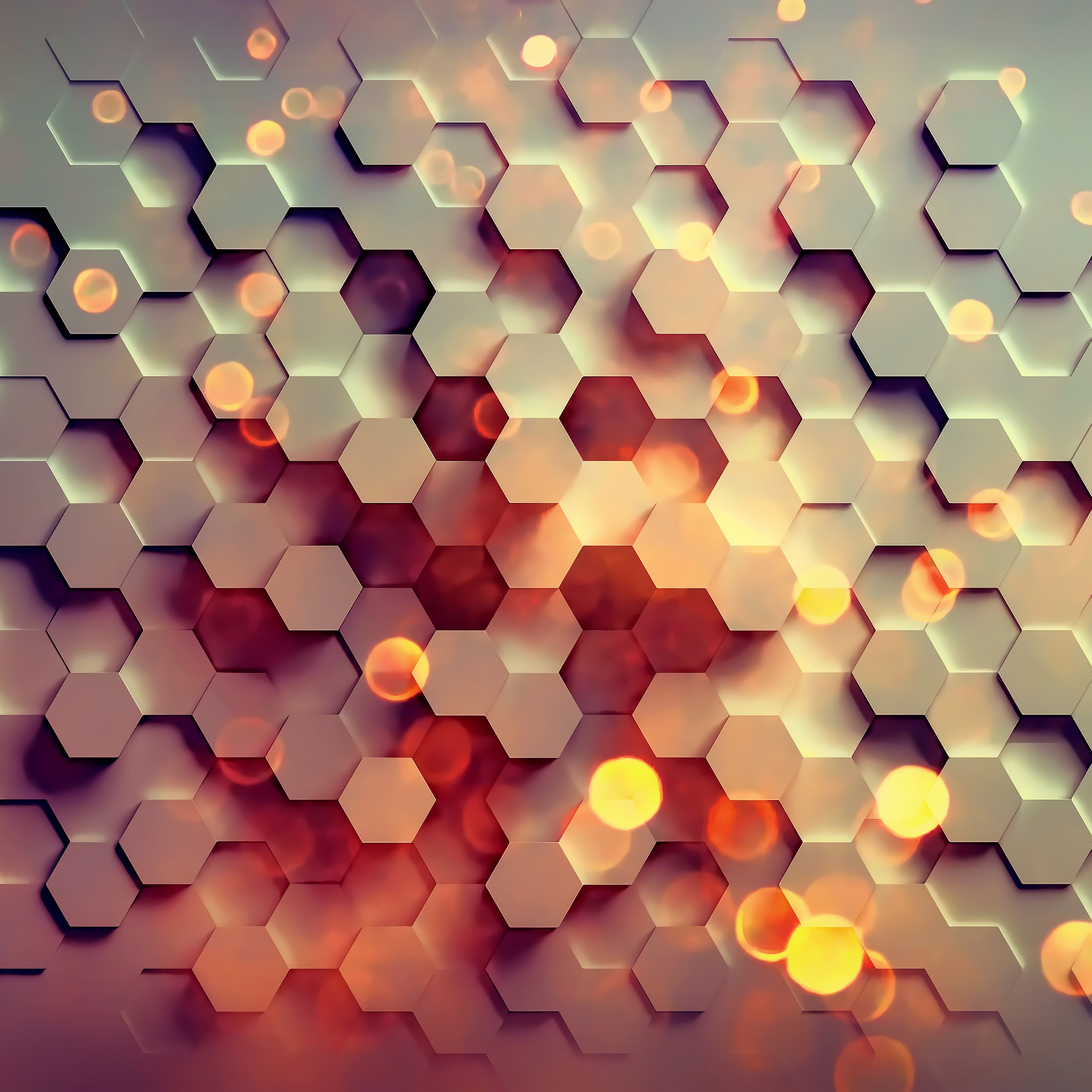 honey hexagon digital wallpapers