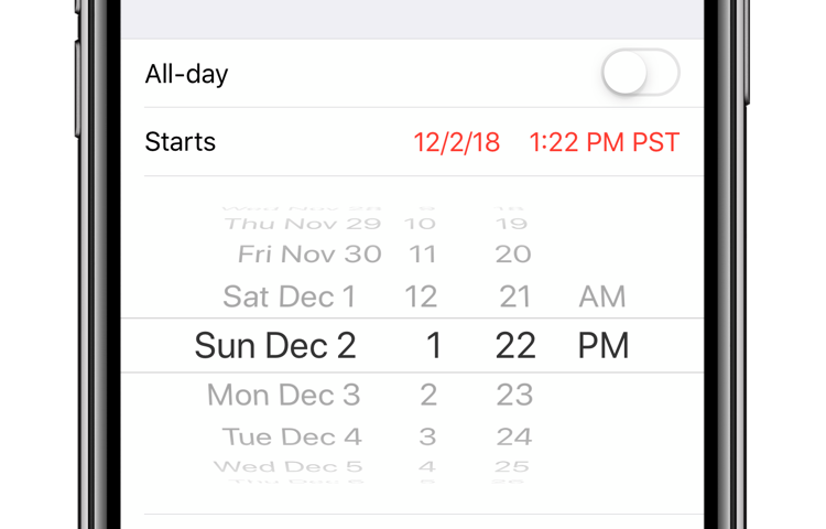 Apple Calendar precise times hero image