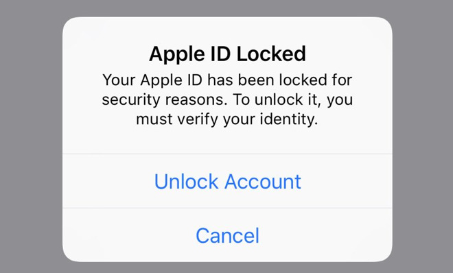Sources say locked Apple ID accounts have nothing to do with a