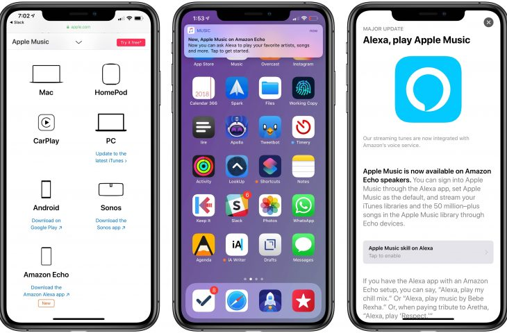 can you play apple music on echo