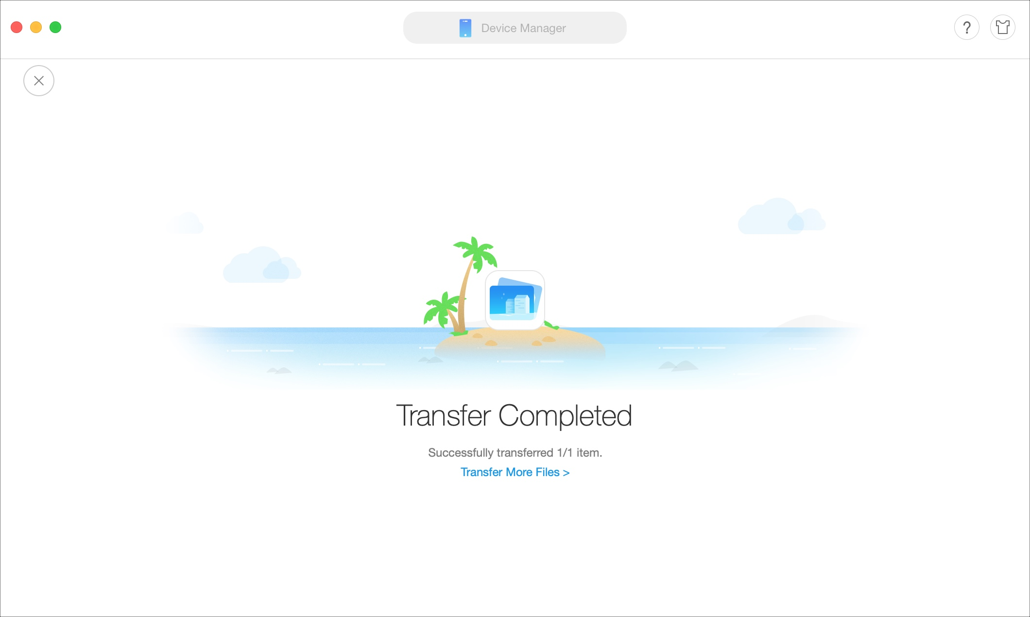AnyTrans Transfer Complete