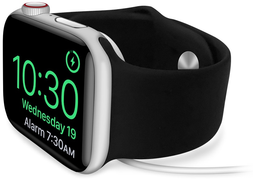 How to see battery percentage when charging Apple Watch in