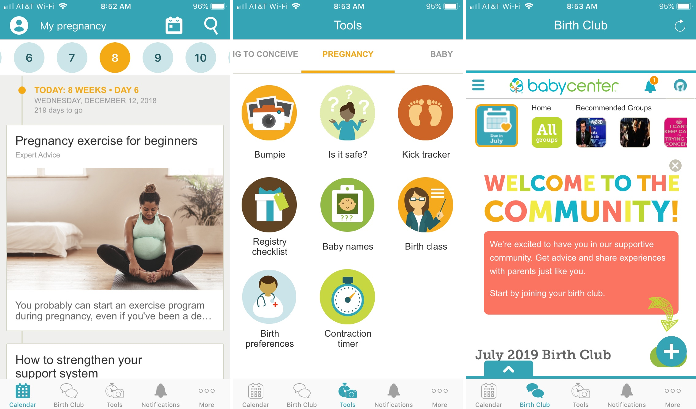 BabyCenter iPhone app