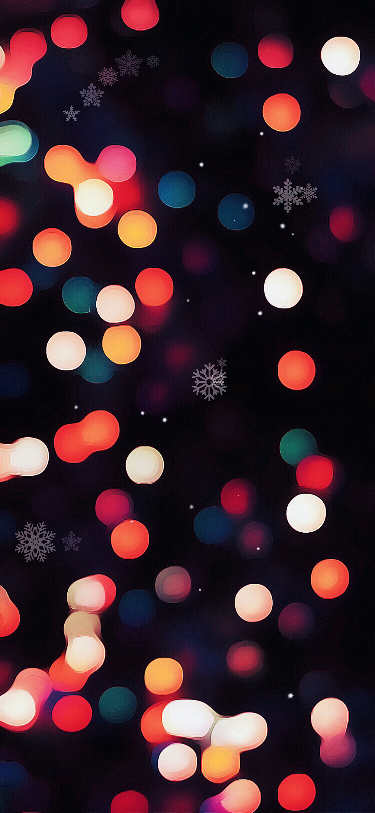 christmas bokeh lights red white wallpaper. Download: iPhone