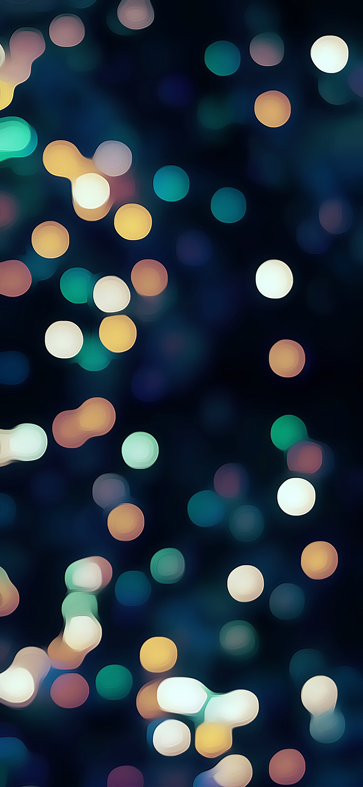 Christmas lights bokeh blue green white