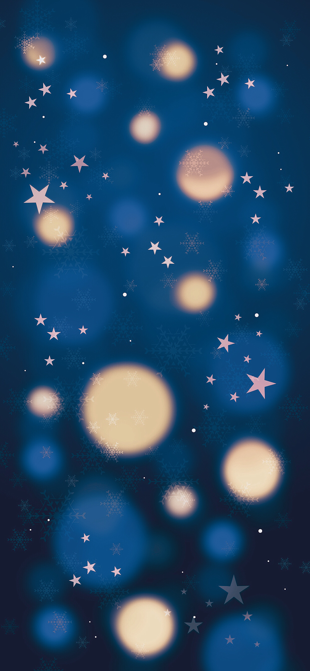 Christmas Classic Blue Gold 2018 iPhone wallpaper AR72014