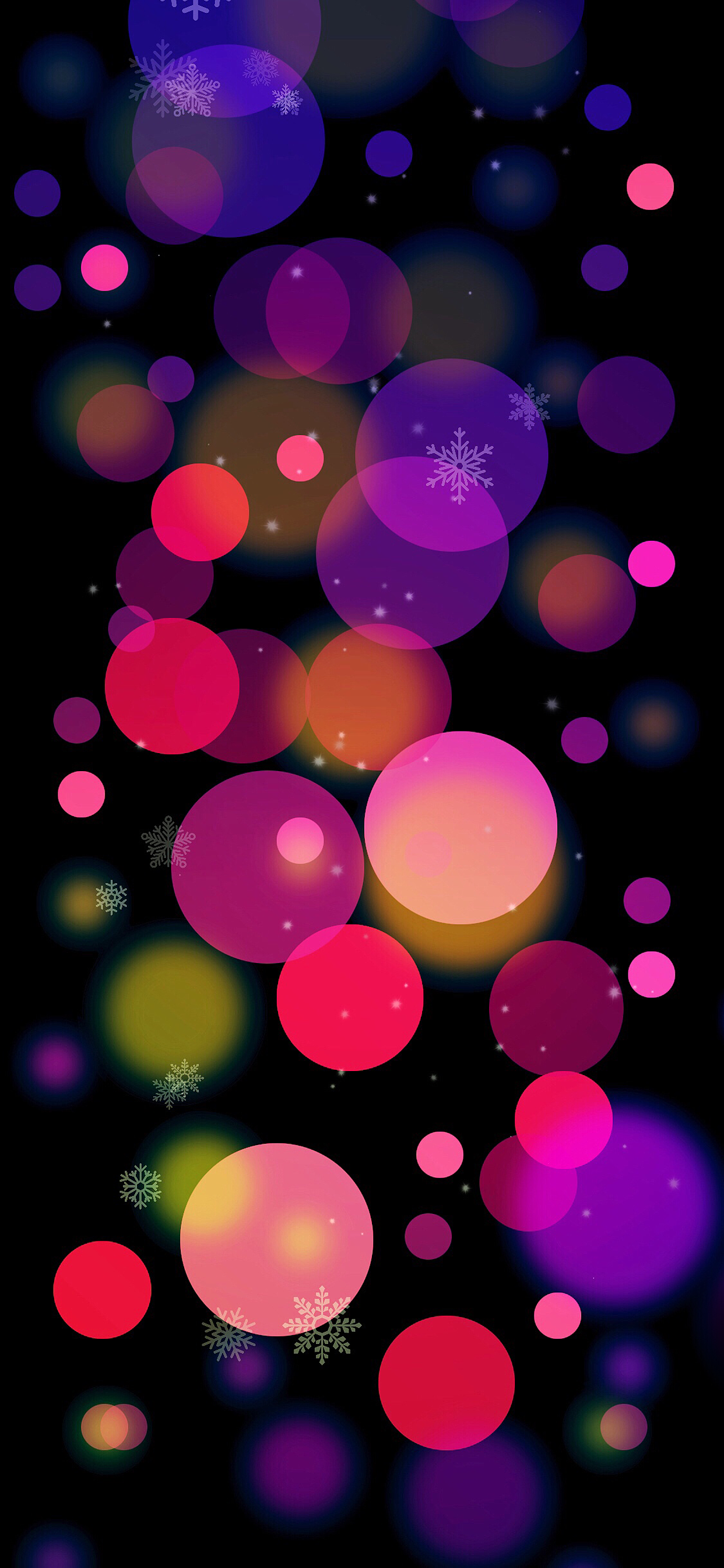 bokeh multicolor Christmas ornaments