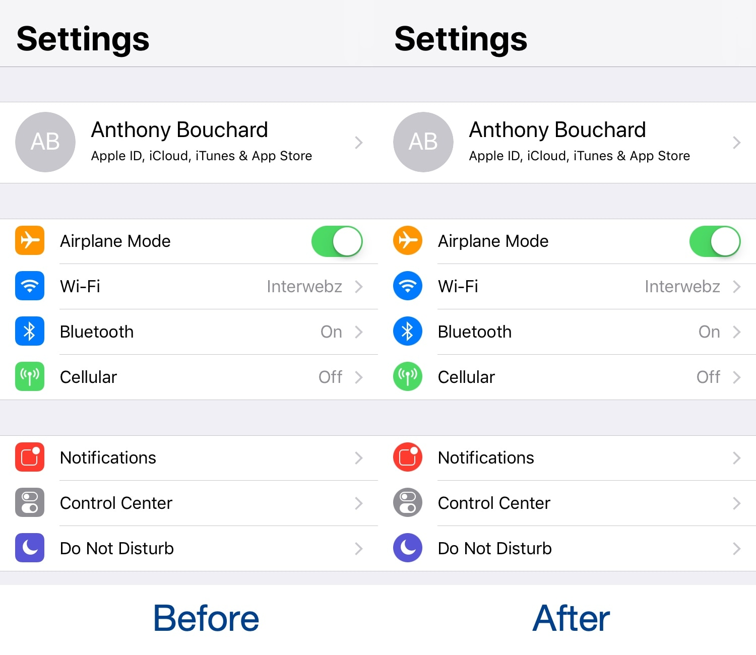CircleSettings replaces the Settings app's square icons with round ones