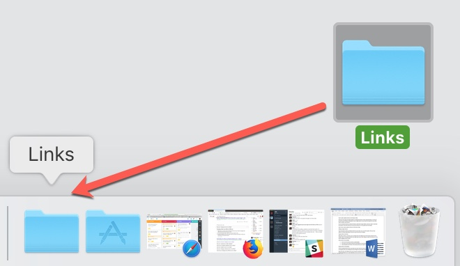 Drag Folder from Desktop to Mac Dock