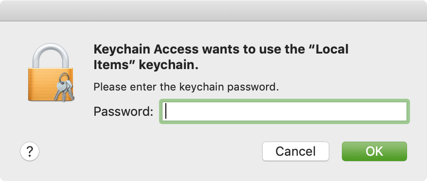 Enter Keychain Password Prompt Mac