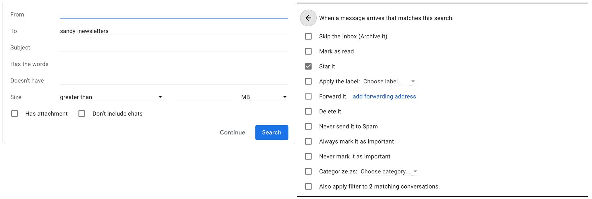 Gmail Filter with Plus Sign Address