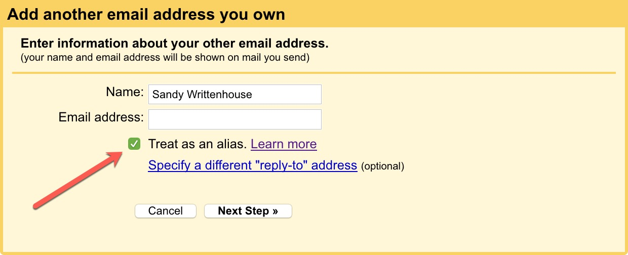 How to create a Gmail email alias