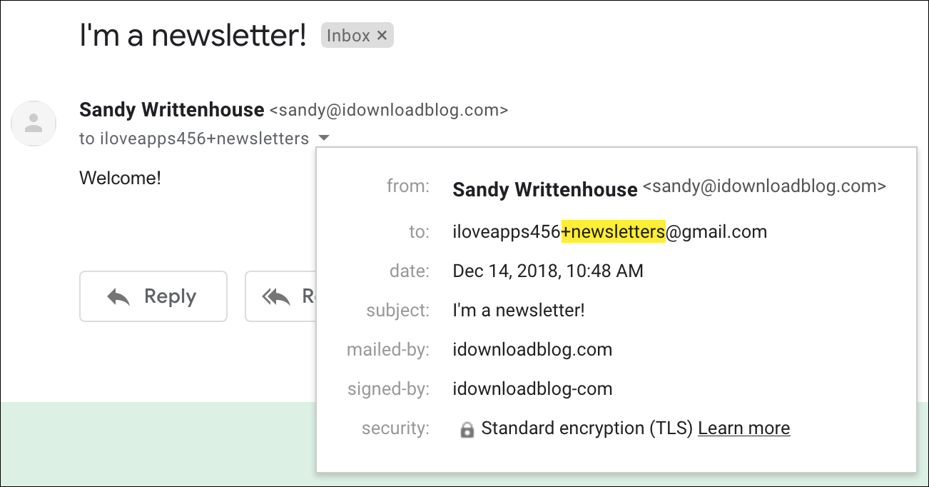 Gmail Newsletters Plus Sign