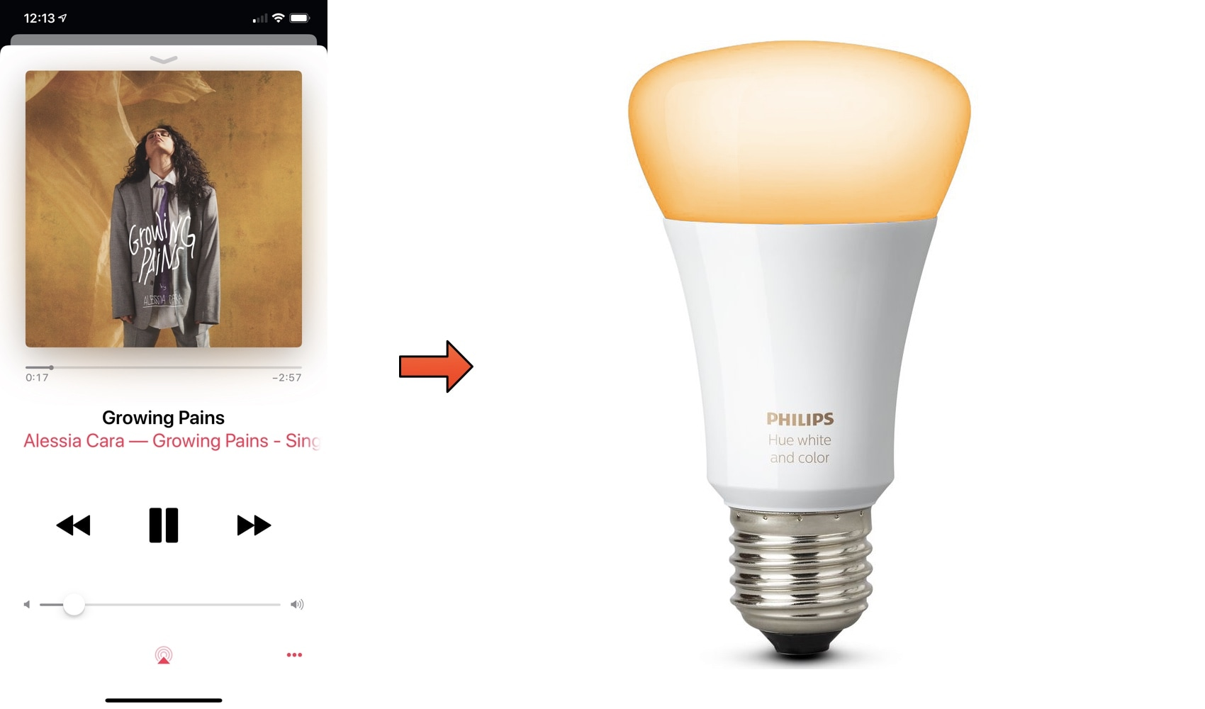 HUE2 colorizes your Philips Hue lights based on colors from the Now