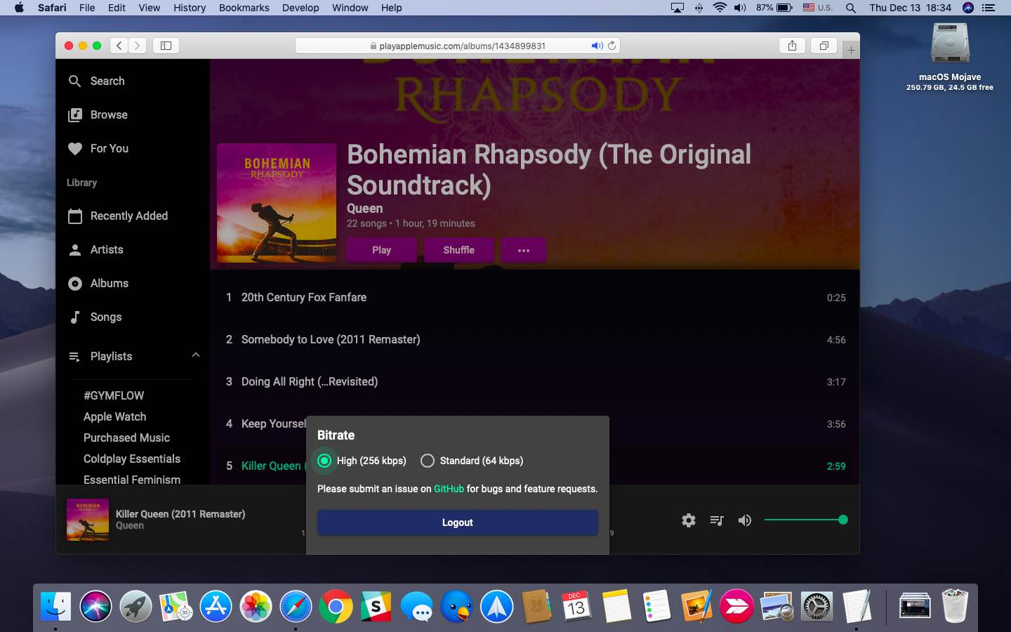 An unofficial web player for Apple Music emerges