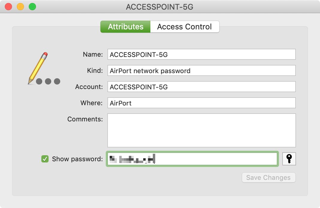 View Password for Network on Mac