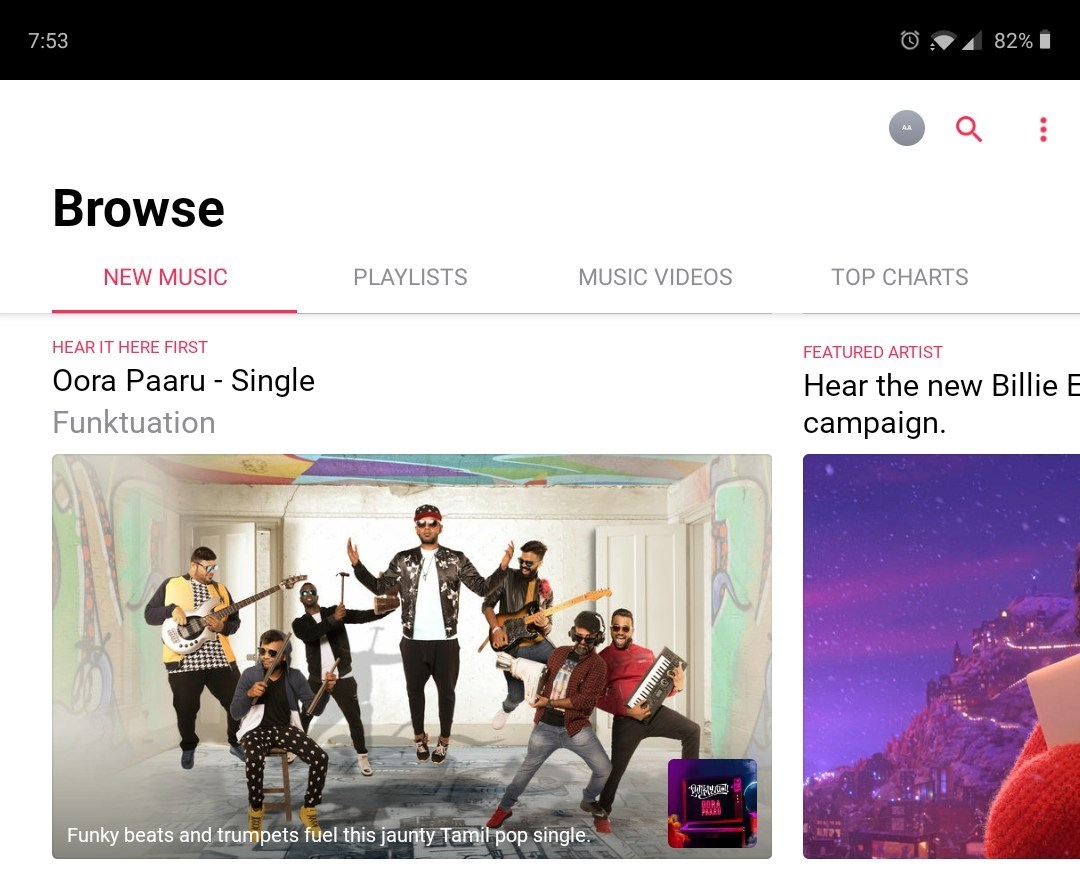 Apple Music for Android gaining bottom navigation bar and proper tablet support
