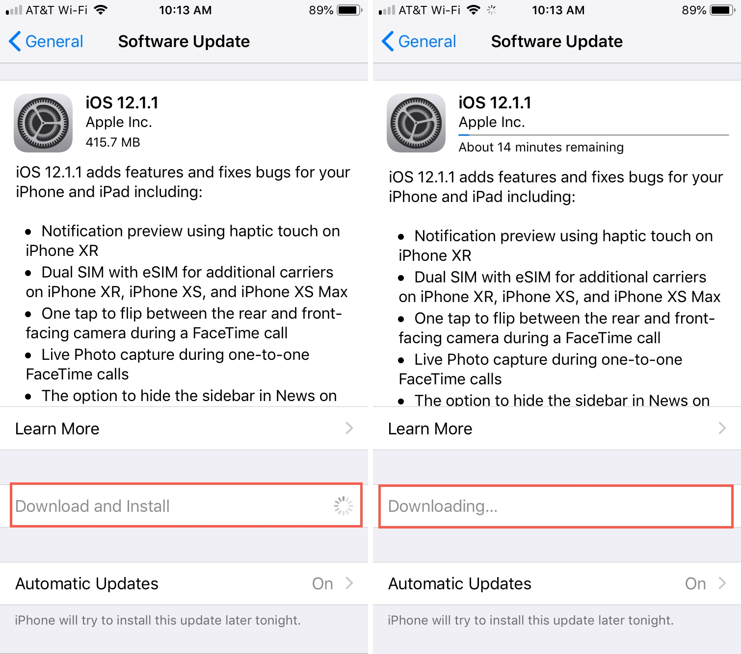 How to stop an iOS update that has already started downloading