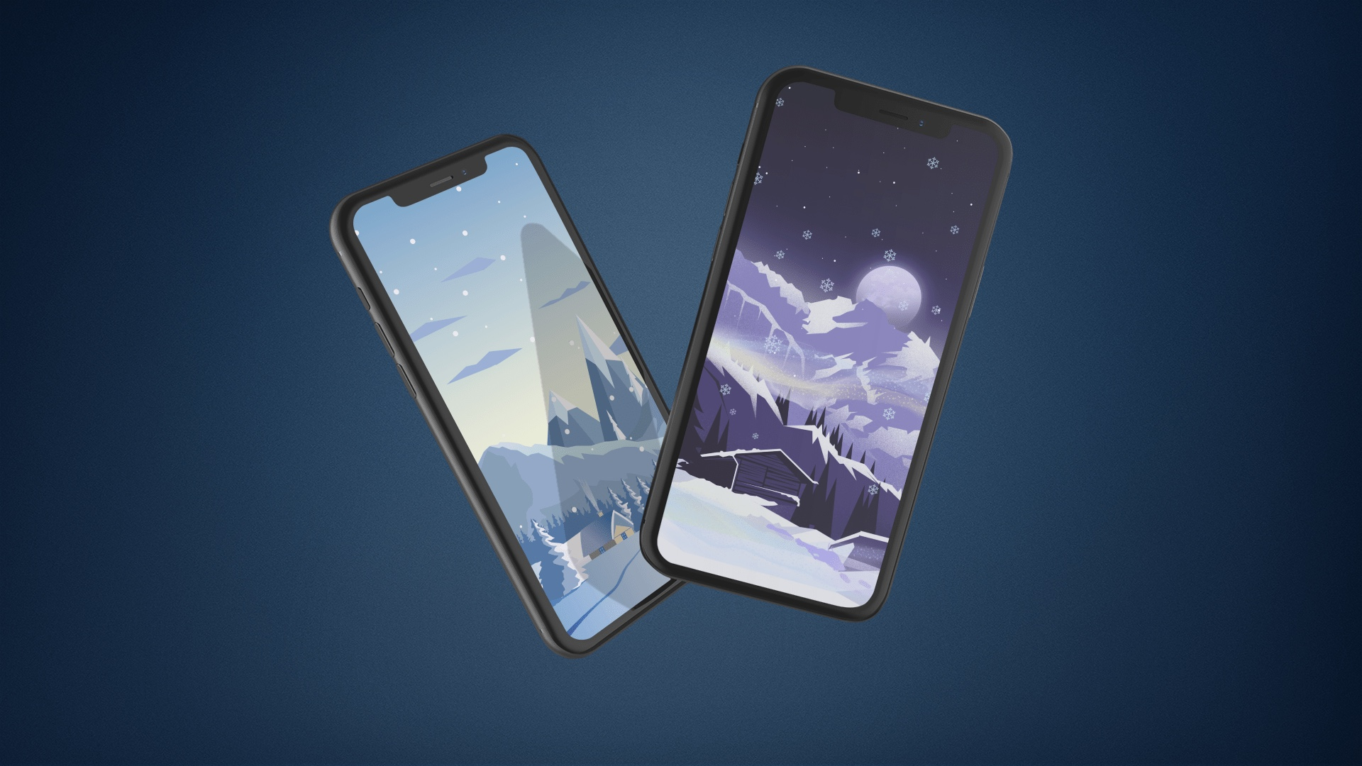 Snow wallpapers for iPhone