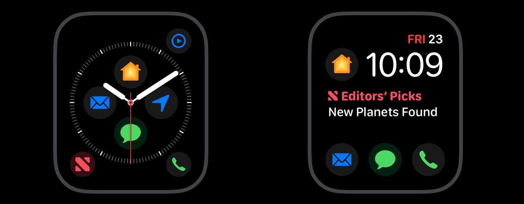 Apple Watch complications Modular watch face