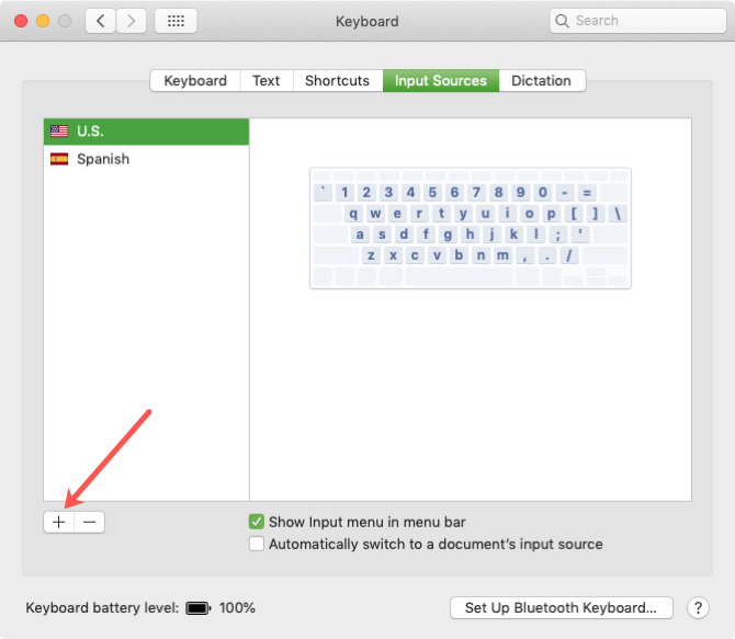 Add Input Source for Keyboard Layout Mac
