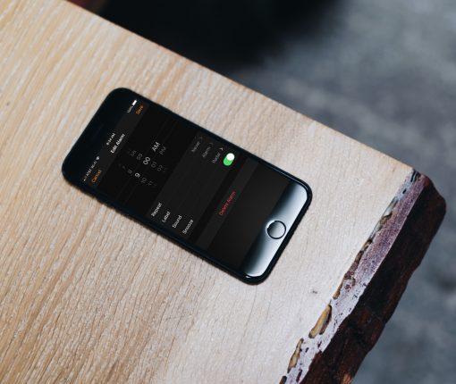 Alarm Set on iPhone Table