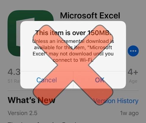 Appstore Unrestrict lets you download app updates larger