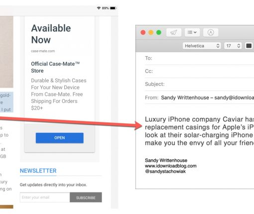 Copy Paste Text from iPad to Mac Mail