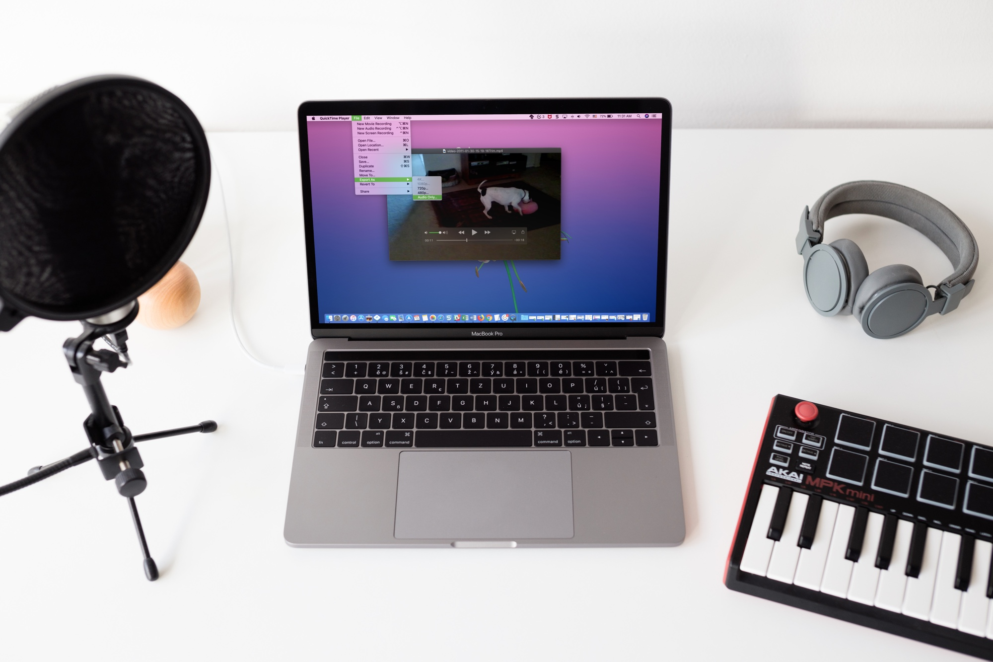 Extract Audio from Video on MacBook with QuickTime