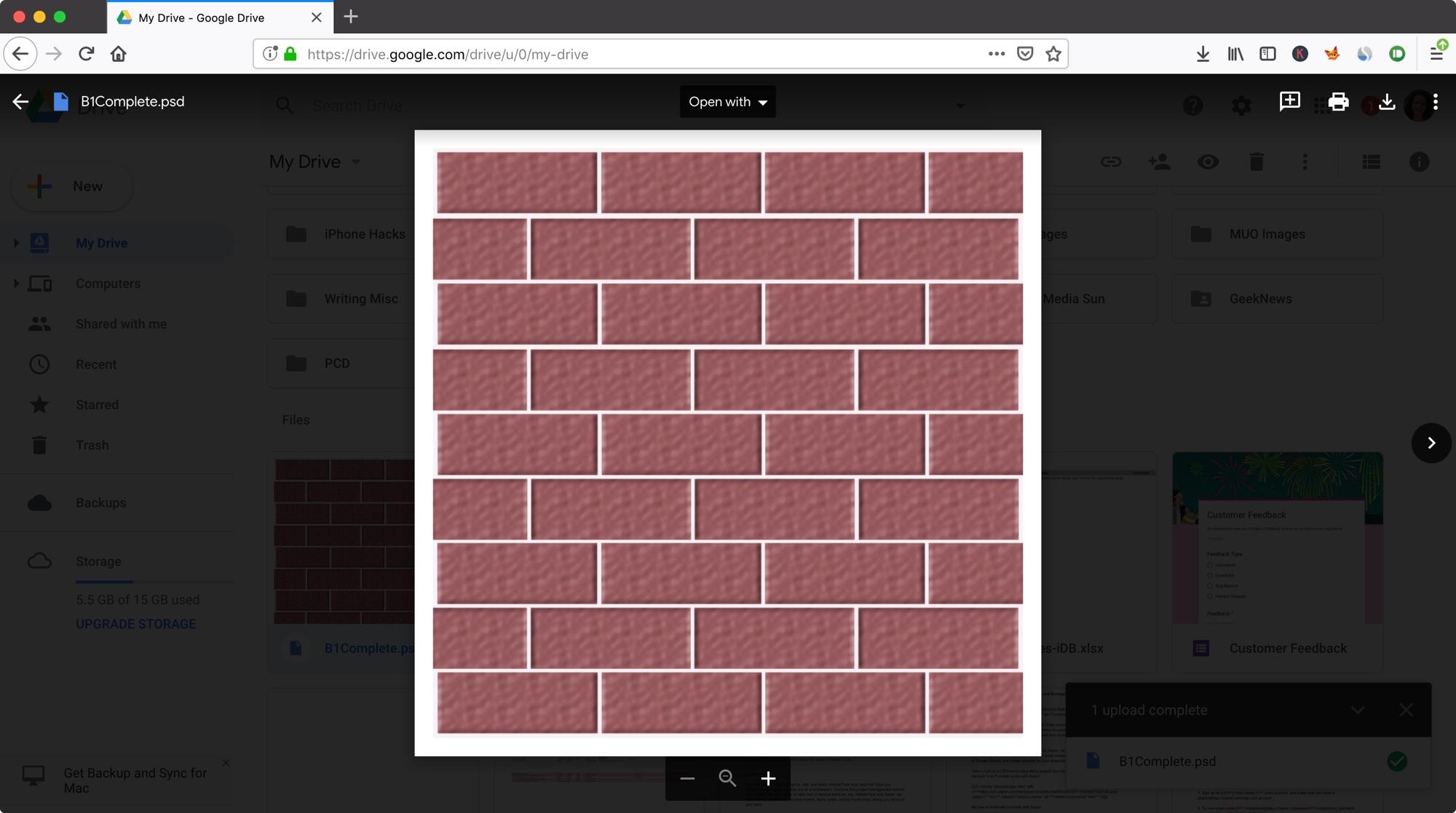 Google Drive View PSD files on Mac