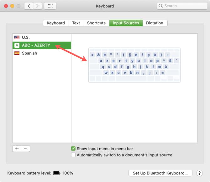 New Keyboard Layout in List on Mac