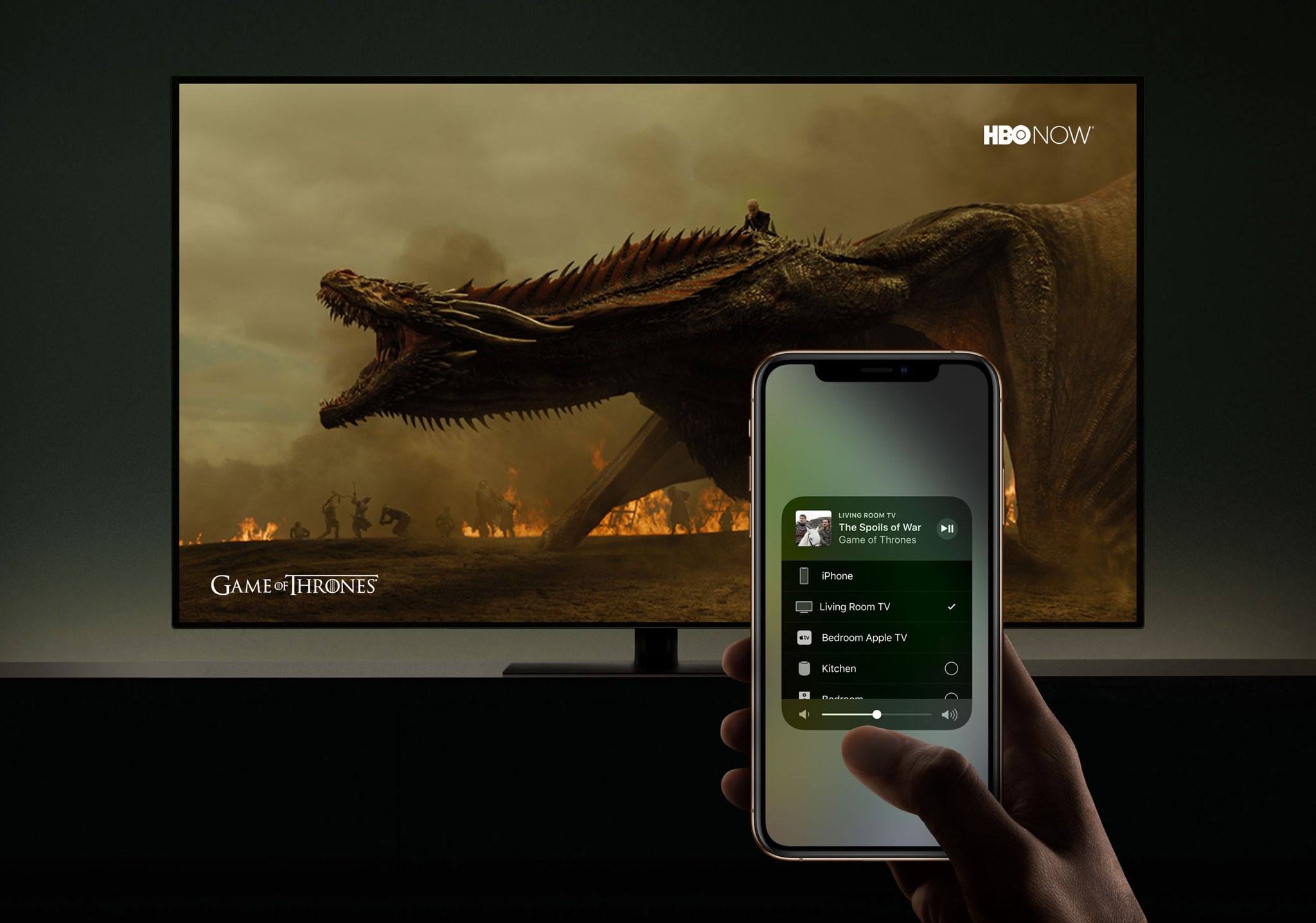 HomeKit support for Smart TVs shown in action