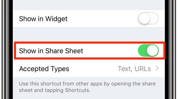 How to bypass article paywalls - Show in Share Sheet selected