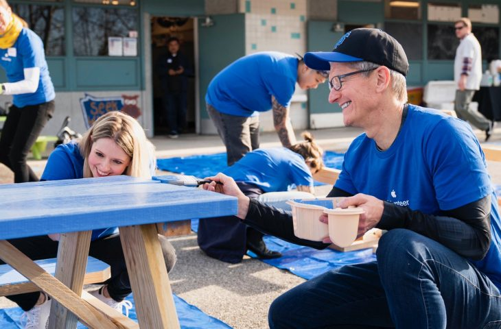 Apple's charitable and volunteer efforts have raised $365 million in the past eight years