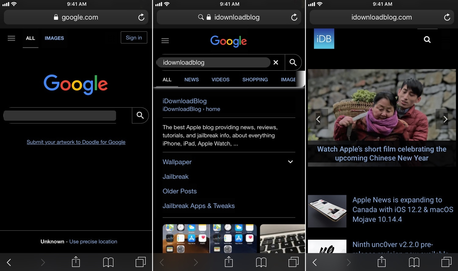 Umbreon: A customizable Dark Mode for web pages in iOS