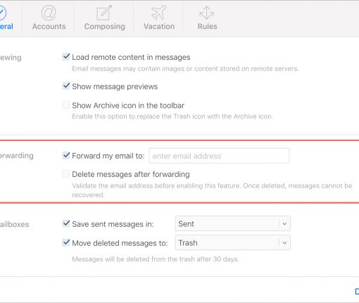 iCloud Email Forwarding To New Address