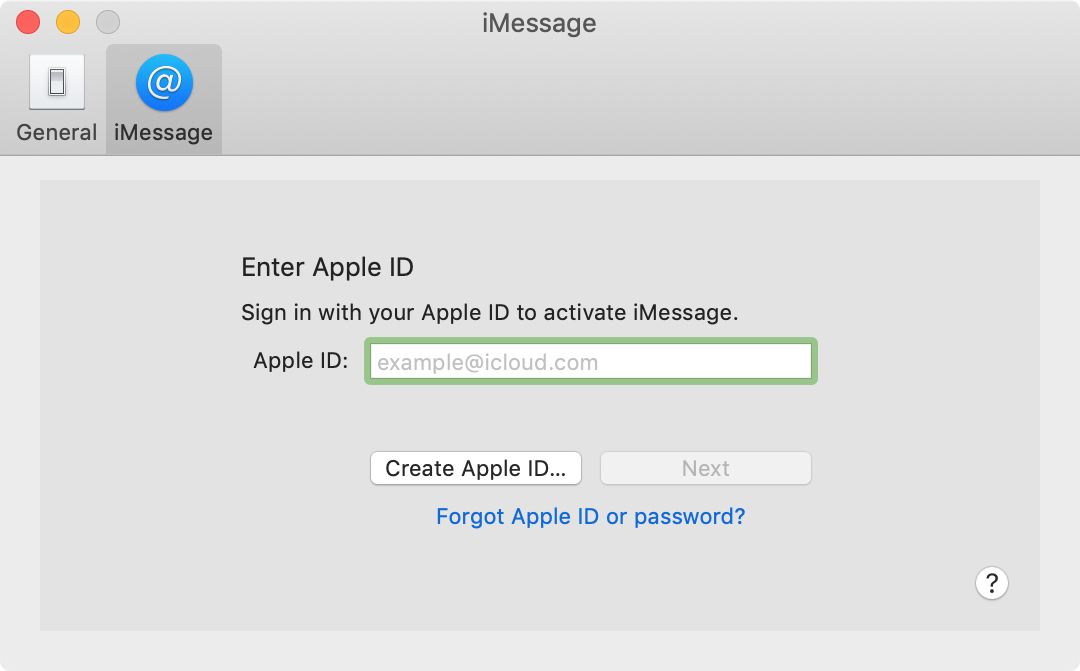 iMessage Signin on Mac