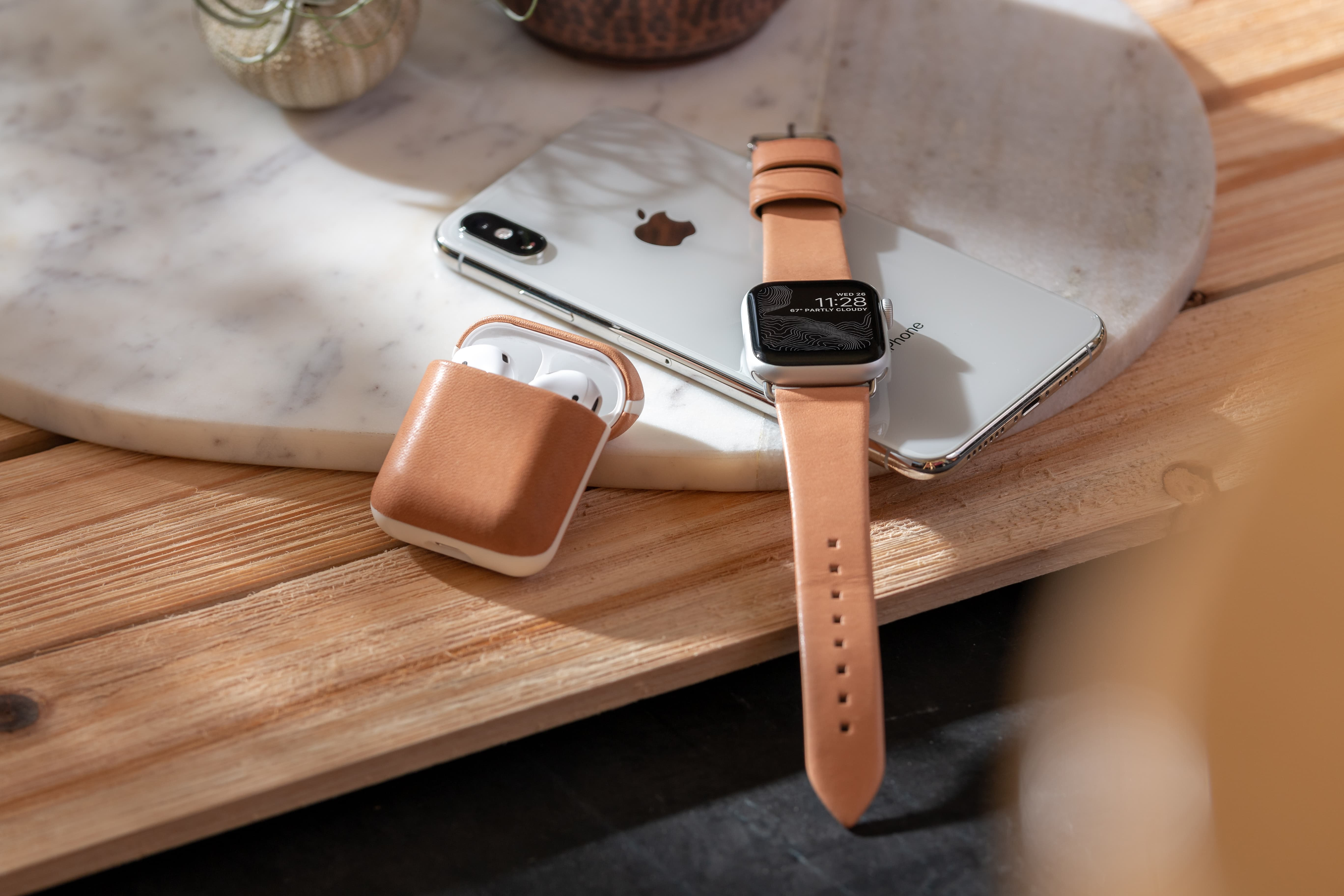 Nomad launches new Natural leather accessory line for Apple Watch and AirPods