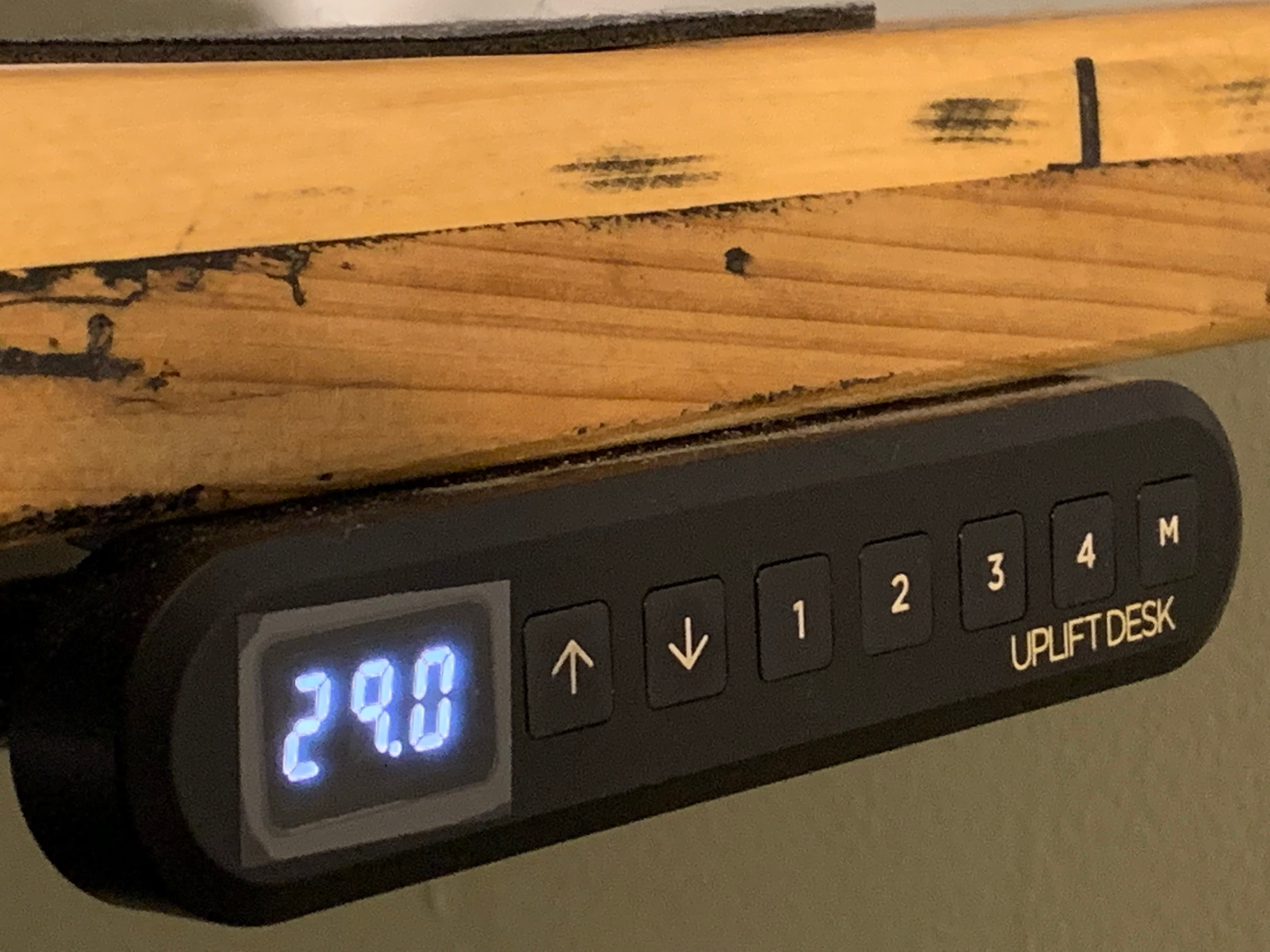 A look at the UPLIFT Reclaimed Wood Stand Up Desk