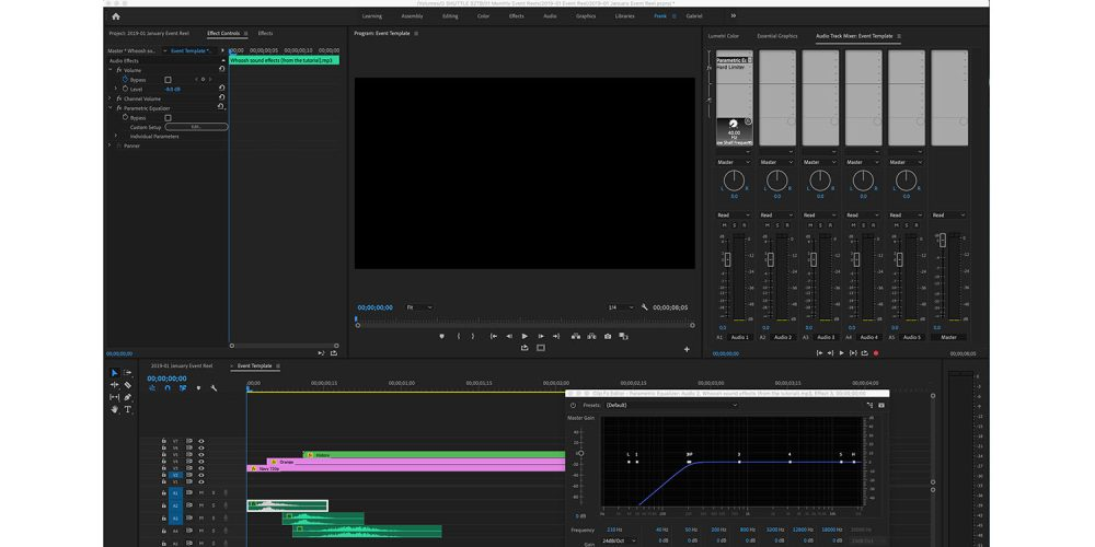 An audio screeching issue in Adobe Premiere Pro is damaging