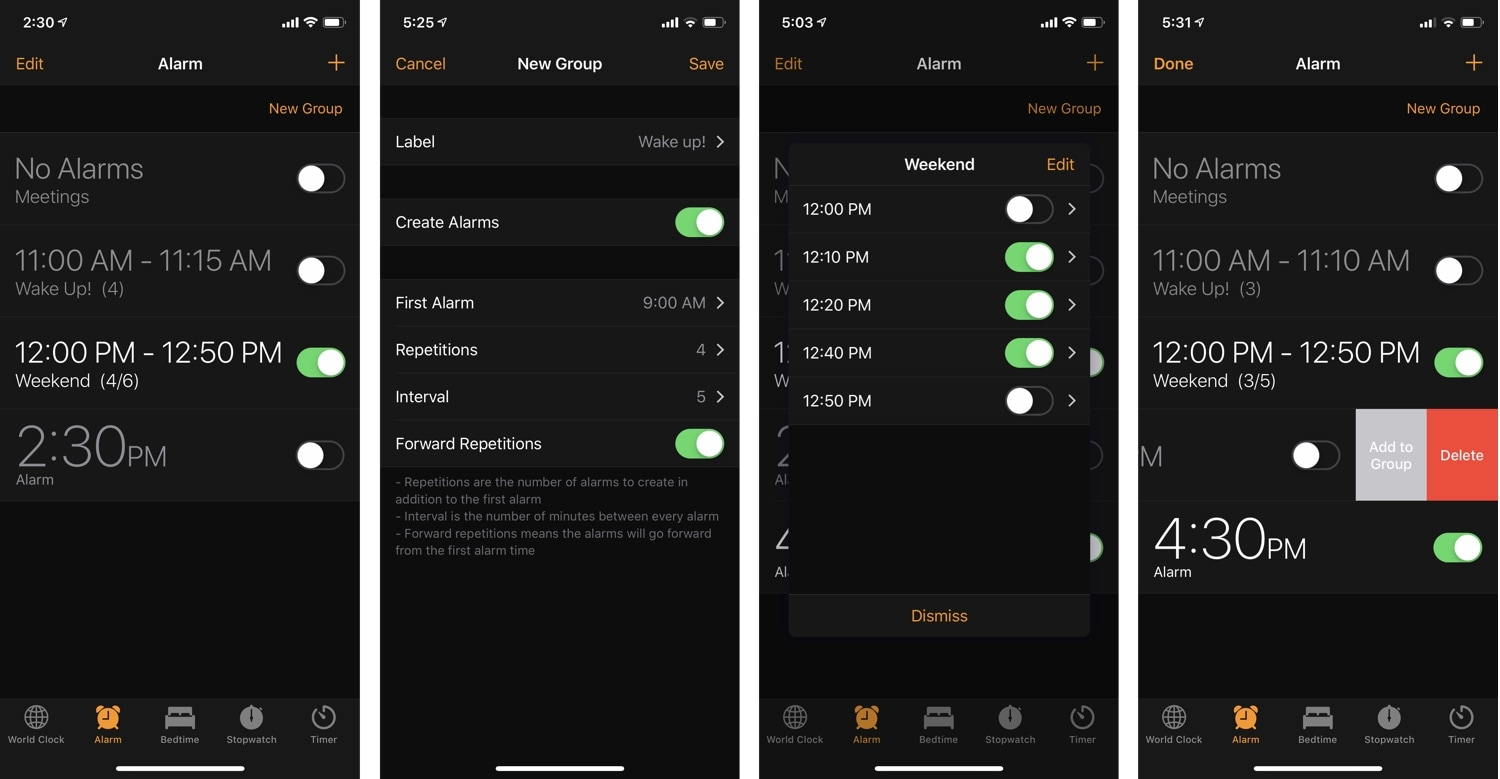 AlarmGroups brings a popular grouped alarm concept for iOS