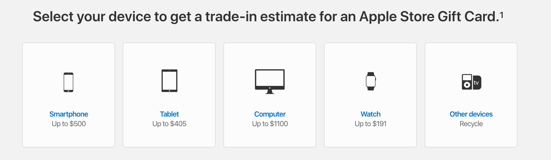 Apple GiveBack Select Device